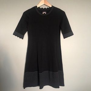 Vince Camuto Striped Body-con Ribbed Dress NWOT